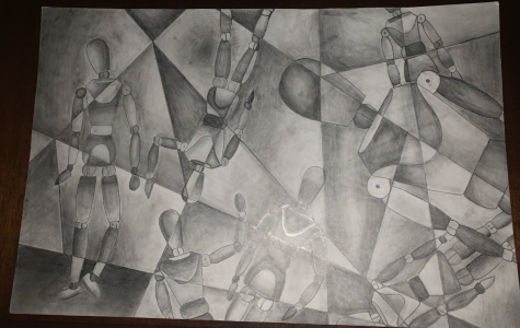 Freshman Claire Winklhofer uses various mediums to express her love of art.