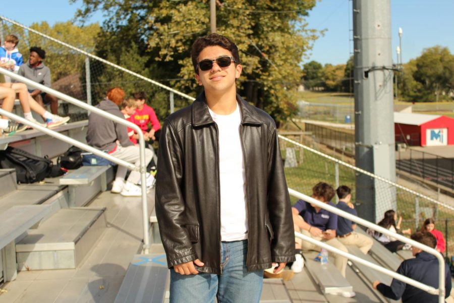 Freshman Jacob Drone dresses as a Greaser on Thursday Oct. 15. According to a online survey of 146 survey responses, 46 percent of students voted for the homecoming theme