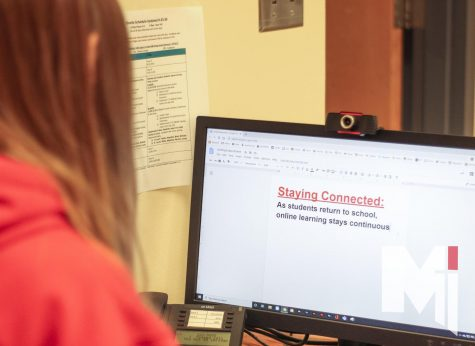 Fully remote learners navigate online learning. As of Nov. 3, Miege has more than 50 full-time remote students.