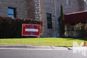 St. Agnes hosts an area for people to go and put in their vote for the presidential election.