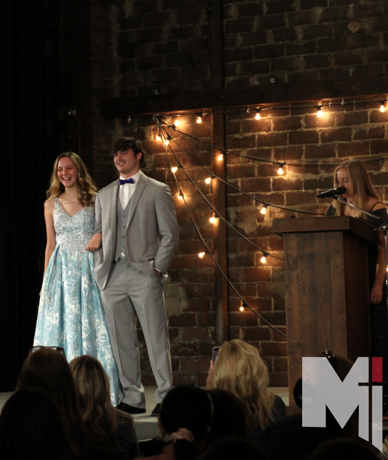 Maggie Masoner and Mack Moeller were all smiles after walking down the runway. Ayden Greene introduced the two models.